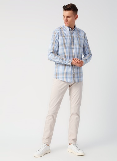 Cotton Bar Gömlek Bej